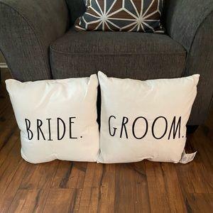 Rae Dunn bride groom decorative pillows